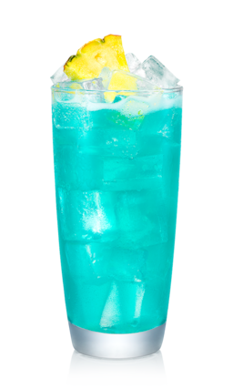 Pineapple Blue Hawaiian Recipe Malibu Rum Drinks